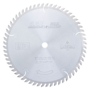 MD10-600 Carbide Tipped Cut-Off & Crosscut 10 Inch Dia x 60T ATB, 12 Deg, 5/8 Bore Circular Saw Blade