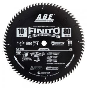 MD10-800R Carbide Tipped Finito Ultimate Cut-Off & Crosscut ArmorMax™ Coated 10 Inch Dia x 80T, ATB, 10 Deg, 5/8 Bore Circular Saw Blade