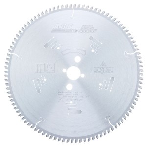 MD12-105-30 Carbide Tipped Thin Walled Aluminum and Non-Ferrous Metals 12 Inch Dia x 100T TCG, -5 Deg, 30mm Bore Circular Saw Blade