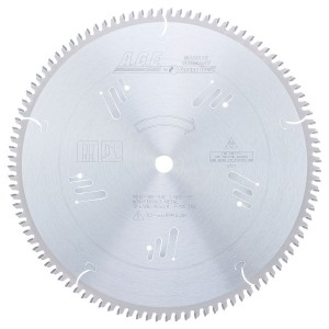 MD12-105-5/8 Carbide Tipped Thin Walled Aluminum and Non-Ferrous Metals 12 Inch Dia x 100T TCG, -5 Deg, 5/8 Bore Circular Saw Blade