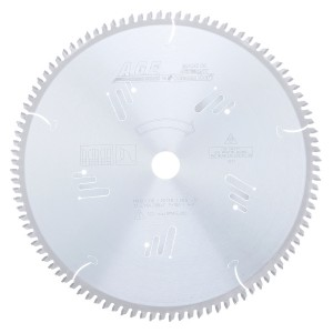 MD12-106 Carbide Tipped Heavy-Duty Miter/Double Miter 12 Inch Dia x 100T 4+1, -5 Deg, 1 Inch Bore Circular Saw Blade