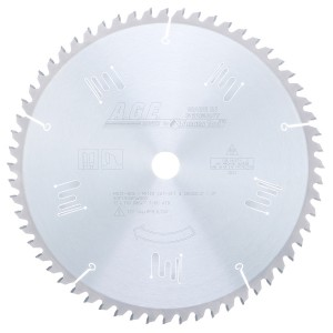MD12-606 Carbide Tipped Thin Kerf Miter/Finishing 12 Inch Dia x 60T ATB, 0 Deg, 1 Inch Bore Circular Saw Blade