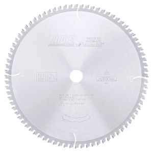 MD12-806 Carbide Tipped Thin Kerf Miter/Finishing 12 Inch Dia x 80T ATB, 0 Deg, 1 Inch Bore Circular Saw Blade