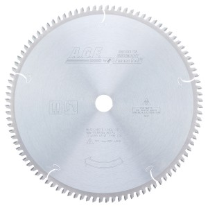MD12-965TB Carbide Tipped Thin Kerf Thin Walled Aluminum and Non-Ferrous Metals 12 Inch Dia x 96T TCG, -5 Deg, 1 Inch Bore Circular Saw Blade