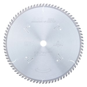MD14-801 Carbide Tipped Plywood & Laminate 14 Inch Dia x 80T TCG, 10 Deg, 1 Inch Bore Circular Saw Blade