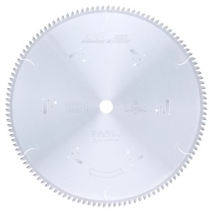 MD16-125 Carbide Tipped Thin Walled Aluminum and Non-Ferrous Metals 16 Inch Dia x 120T TCG, -6 Deg, 1 Inch Bore Circular Saw Blade