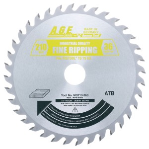 MD210-360 Carbide Tipped Saw Blade Comparable to FESTOOL® #493198 and Other Track Saw Machines, 210mm Dia x 36T ATB, 15 Deg, 30mm Bore, General Purpose Circular Saw Blade, Fits TS 75 EQ