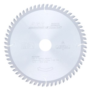 MD210-608 Carbide Tipped Saw Blade Comparable to FESTOOL® #493200 and Other Track Saw Machines, 210mm Dia x 60T TCG, -2 Deg, 30mm Bore, Solid Surface/Laminate Circular Saw Blade, Fits TS 75 EQ