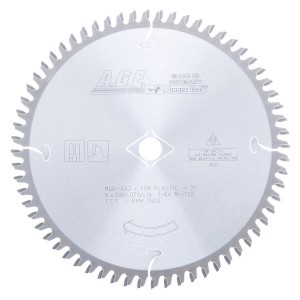 MD8-642 Carbide Tipped Plastic 8 Inch Dia x 64T M-TCG, -2 Deg, 5/8 Bore Circular Saw Blade