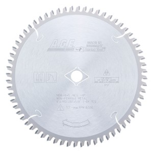 MD8-645 Carbide Tipped Thin Walled Aluminum and Non-Ferrous Metals 8 Inch Dia x 64T TCG, -6 Deg, 5/8 Bore Circular Saw Blade
