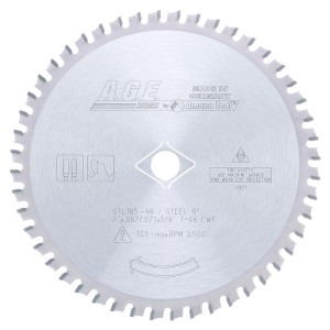 STL185-48 Carbide Tipped Steel Cutting 7-1/4 Inch Dia x 48T FWF, 5/8 with Diamond Knockout Bore Circular Saw Blade