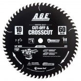 MD10-600R Carbide Tipped Cut-Off & Crosscut ArmorMax™ Coated 10 Inch Dia x 50T, ATB, 12 Deg, 5/8 Bore Circular Saw Blade