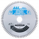 MD210-725 Carbide Tipped Saw Blade Comparable to FESTOOL® #493201 and Other Track Saw Machines, 210mm Dia x 72T TCG, -5 Deg, 30mm Bore, Aluminum/Plastic Circular Saw Blade, Fits TS 75 EQ